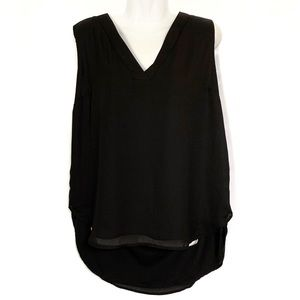 Endes Black Criss Cross Back Tank Top/ Blouse